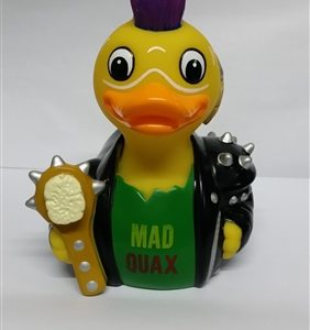 MAD QUAX – THE POND WARRIOR RUBBER DUCK