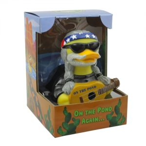 On The Pond Again Country Western Music Rubber Duck